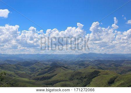 Serra da Mantiqueira (range of mountains) in the city of Conservatoria (Rio de Janeiro - Brazil)
