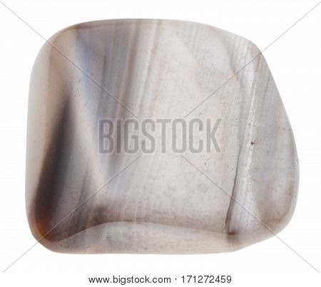 Pebble Of Flint Stone Isolated On White