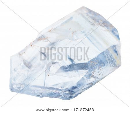 Natural Celestine Crystals Isolated