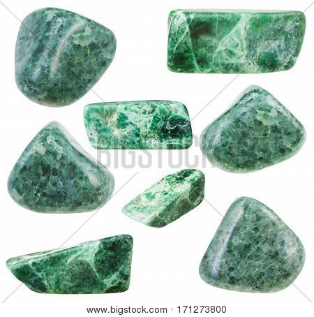 Collection Of Various Tumbled Green Jadeite Stones