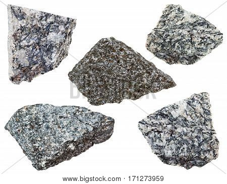 Collection Of Various Nepheline Syenite Mineral Stone