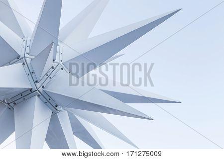 Modern White Outdoor Decoration Star