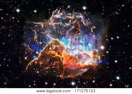 Mystic Mountain in outer space. Elements of this Image Furnished by NASA