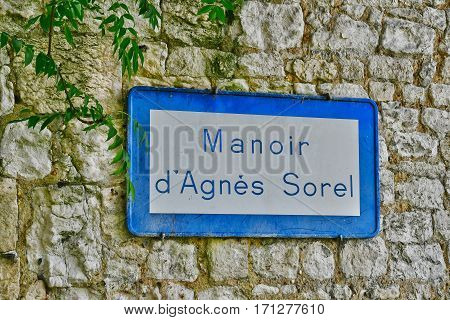 Le Mesnil sous Jumieges France - june 22 2016 : Agnes Sorel manor