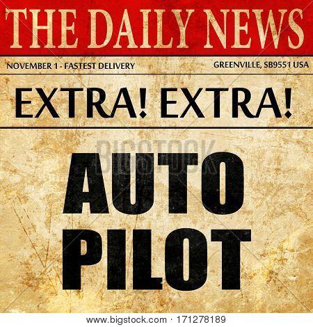 autopilot, article text in newspaper