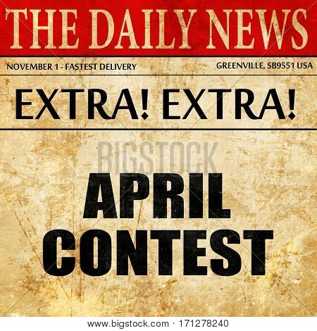 april contest, article text in newspaper