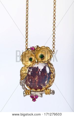 Jewelry in the shape of an owl