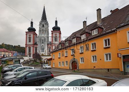 Shrine of Our Lady in city Mariazell - site of pilgrimage for catholics. Austria.