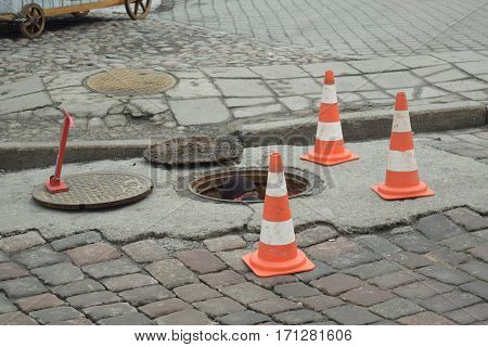 Unexpected repair of roads in the city centre