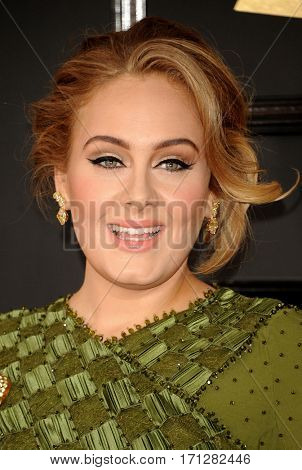 Adele at the 59th GRAMMY Awards held at the Staples Center in Los Angeles, USA on February 12, 2017.