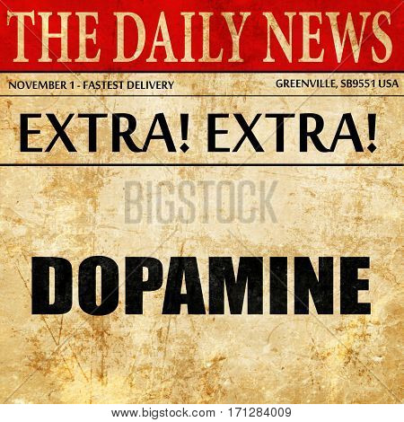 dopamine, article text in newspaper
