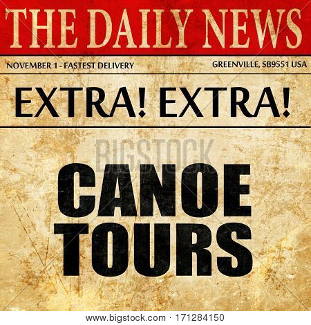 canoe tours, article text in newspaper