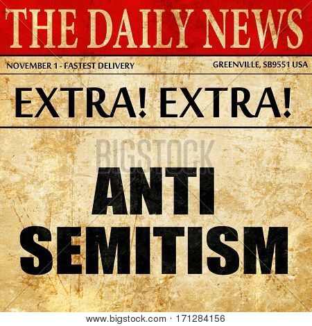 antisemitism, article text in newspaper