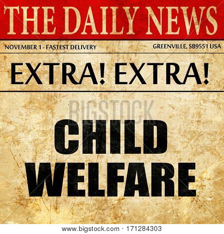 child welfare, article text in newspaper