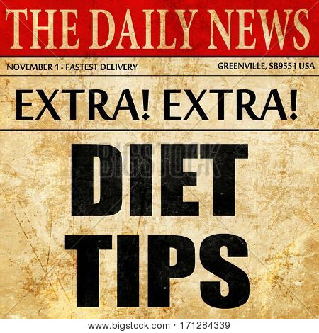 diet tips, article text in newspaper