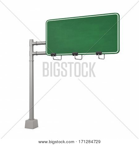 Blank Freeway Sign isolated on white background. 3D render