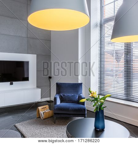 Tv Living Room With Armchair