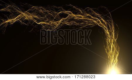 extraction of energy particles from light source.
