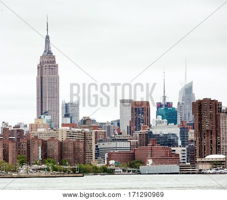 Midtown Manhattan Skyline With Empire State Building