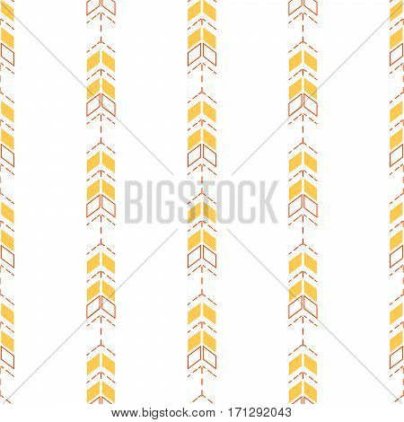 Small arrow line seamless pattern. Tiny thin arrows in dashed line rows tileable white background.
