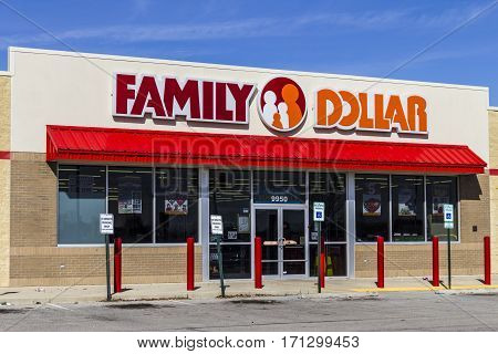 Indianapolis - Circa February 2017: Family Dollar Variety Store. Family Dollar is a Subsidiary of Dollar Tree I