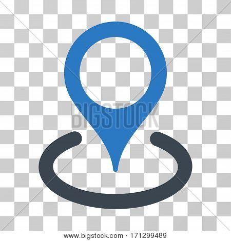 Location icon. Vector illustration style is flat iconic bicolor symbol smooth blue colors transparent background. Designed for web and software interfaces.