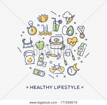 Healthy lifestyle conceptual image, dieting, fitness and nutrition.