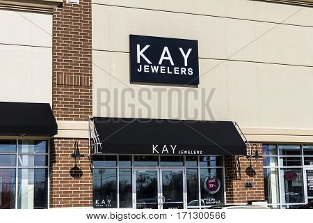 Indianapolis - Circa February 2017: Kay Jewelers Retail Strip Mall Location. Kay Jewelers is a subsidiary of Sterling and Signet Jewelers I