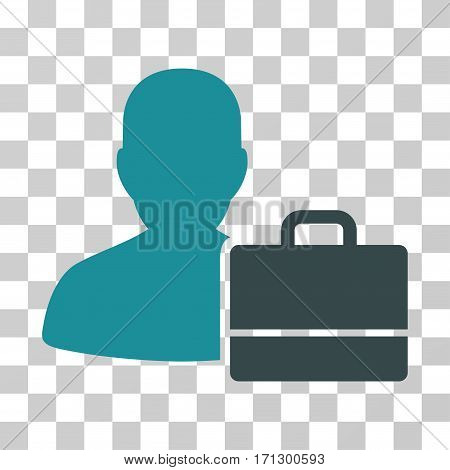 Accounter icon. Vector illustration style is flat iconic bicolor symbol soft blue colors transparent background. Designed for web and software interfaces.