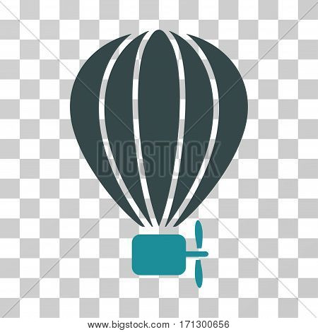 Aerostat Balloon icon. Vector illustration style is flat iconic bicolor symbol soft blue colors transparent background. Designed for web and software interfaces.
