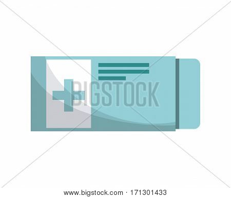 medicine pills box over white background. colorful design. first aid concept. vector illustration