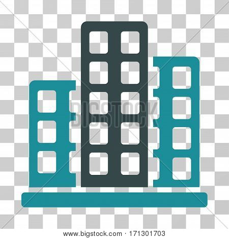 City icon. Vector illustration style is flat iconic bicolor symbol soft blue colors transparent background. Designed for web and software interfaces.