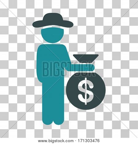 Gentleman Investor icon. Vector illustration style is flat iconic bicolor symbol soft blue colors transparent background. Designed for web and software interfaces.