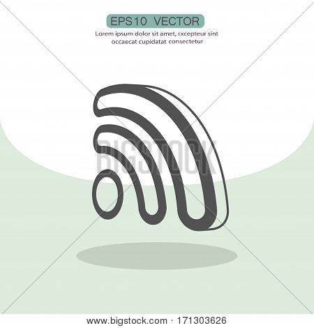 Pictograph of RSS. Vector concept illustration for design. Eps 10