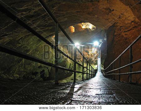 New Athos cave (russian: Novoafonskaya cave). Abkhazia.