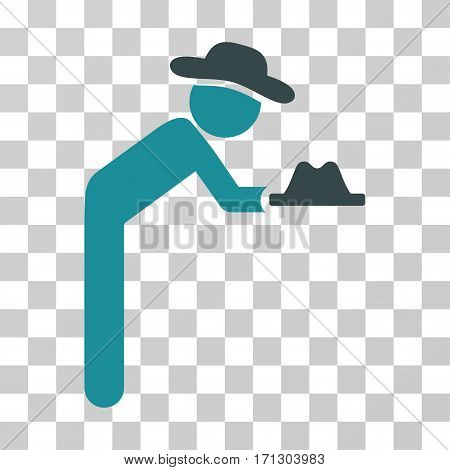 Gentleman Servant icon. Vector illustration style is flat iconic bicolor symbol soft blue colors transparent background. Designed for web and software interfaces.