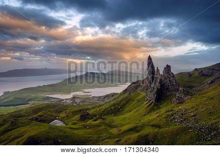Old Man of Storr rock formation Isle of Skye Scotland