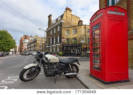 LONDON/ ENGLAND - AUGUST 30. Palace Street in Victoria district in the City of Westminster in central London on August 30, 2016. England.