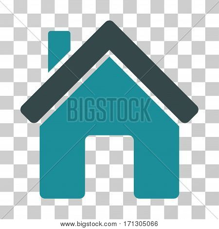 House icon. Vector illustration style is flat iconic bicolor symbol soft blue colors transparent background. Designed for web and software interfaces.