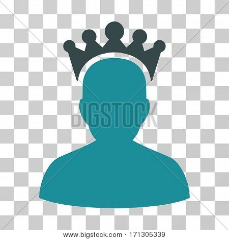 King icon. Vector illustration style is flat iconic bicolor symbol soft blue colors transparent background. Designed for web and software interfaces.