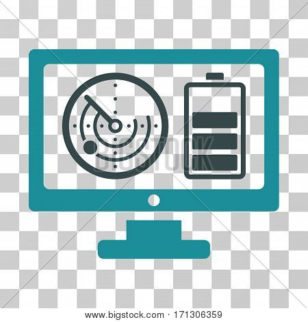 Radar Battery Control Monitor icon. Vector illustration style is flat iconic bicolor symbol soft blue colors transparent background. Designed for web and software interfaces.
