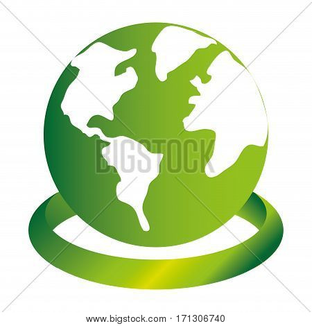 earth world with circular base in 3d vector illustration