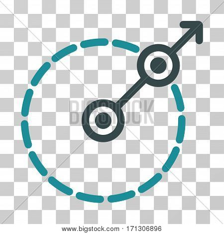 Round Area Exit icon. Vector illustration style is flat iconic bicolor symbol soft blue colors transparent background. Designed for web and software interfaces.