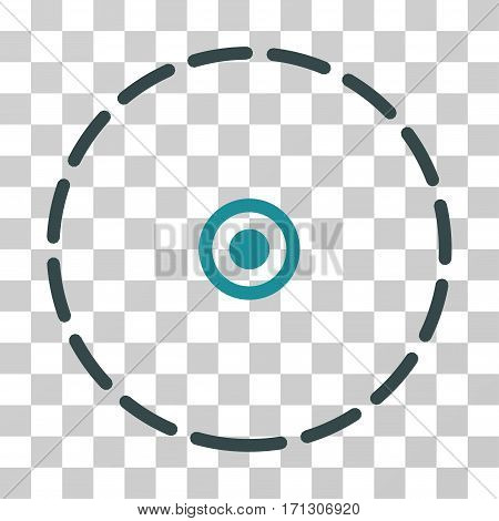 Round Area icon. Vector illustration style is flat iconic bicolor symbol soft blue colors transparent background. Designed for web and software interfaces.