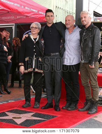LOS ANGELES - FEB 10:  Mom, Adam Levine, Dad, brother at the Adam Levine Hollywood Walk of Fame Star Ceremony at Musicians Institute on February 10, 2017 in Los Angeles, CA