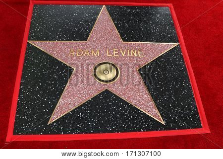 LOS ANGELES - FEB 10:  Adam Levine Star at the Adam Levine Hollywood Walk of Fame Star Ceremony at Musicians Institute on February 10, 2017 in Los Angeles, CA