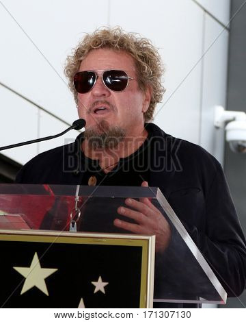 LOS ANGELES - FEB 10:  Sammy Hagger at the Adam Levine Hollywood Walk of Fame Star Ceremony at Musicians Institute on February 10, 2017 in Los Angeles, CA