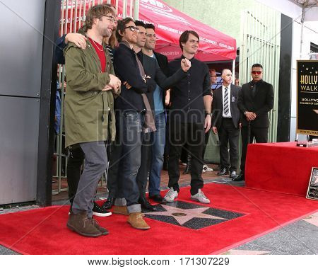 LOS ANGELES - FEB 10:  Adam Levine, Maroon 5 at the Adam Levine Hollywood Walk of Fame Star Ceremony at Musicians Institute on February 10, 2017 in Los Angeles, CA