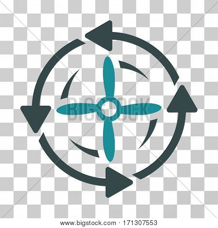 Screw Rotation icon. Vector illustration style is flat iconic bicolor symbol soft blue colors transparent background. Designed for web and software interfaces.