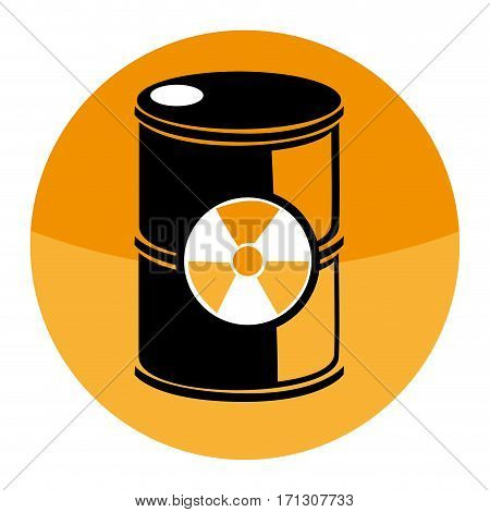circular shape with barrels with radioactive materials vector illustration